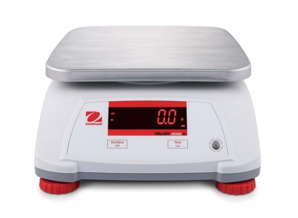 Ohaus Valor™ 2000 ABS-Gehäuse mit Wägeplattform aus Edelstahl